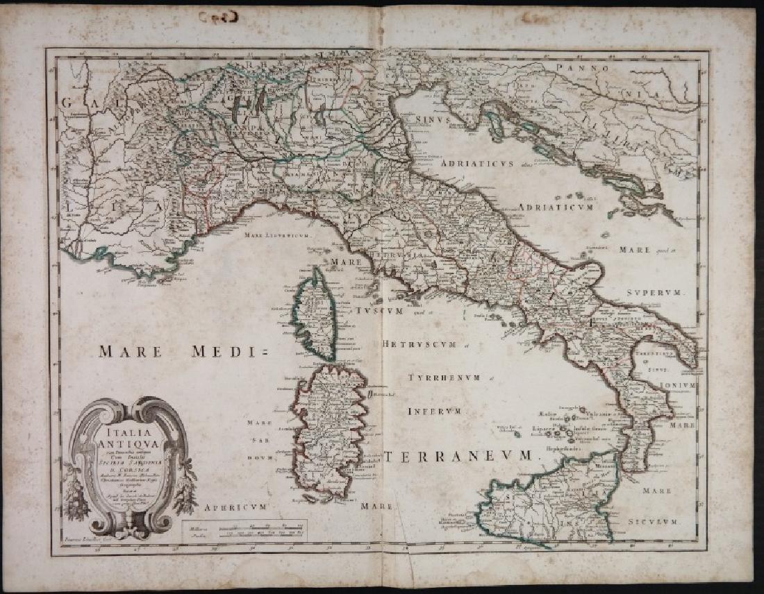 2 Maps: L'Italia + Italia Antiqua.