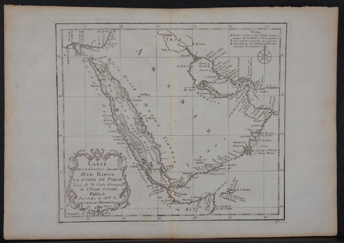 8 maps by De Fer, 1739-1740. Africa, Middle East.