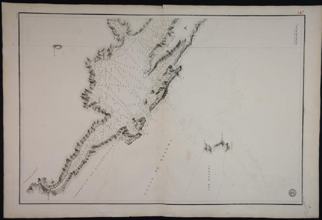 4 Maps: 3 nautical maps 1821 + Gallia Antiqua 1760