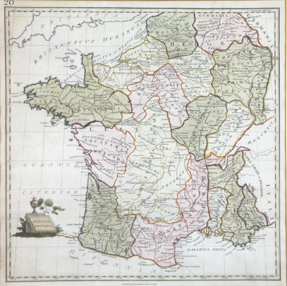 Gallia Antiqua (map). T. Stackhouse, 1790.