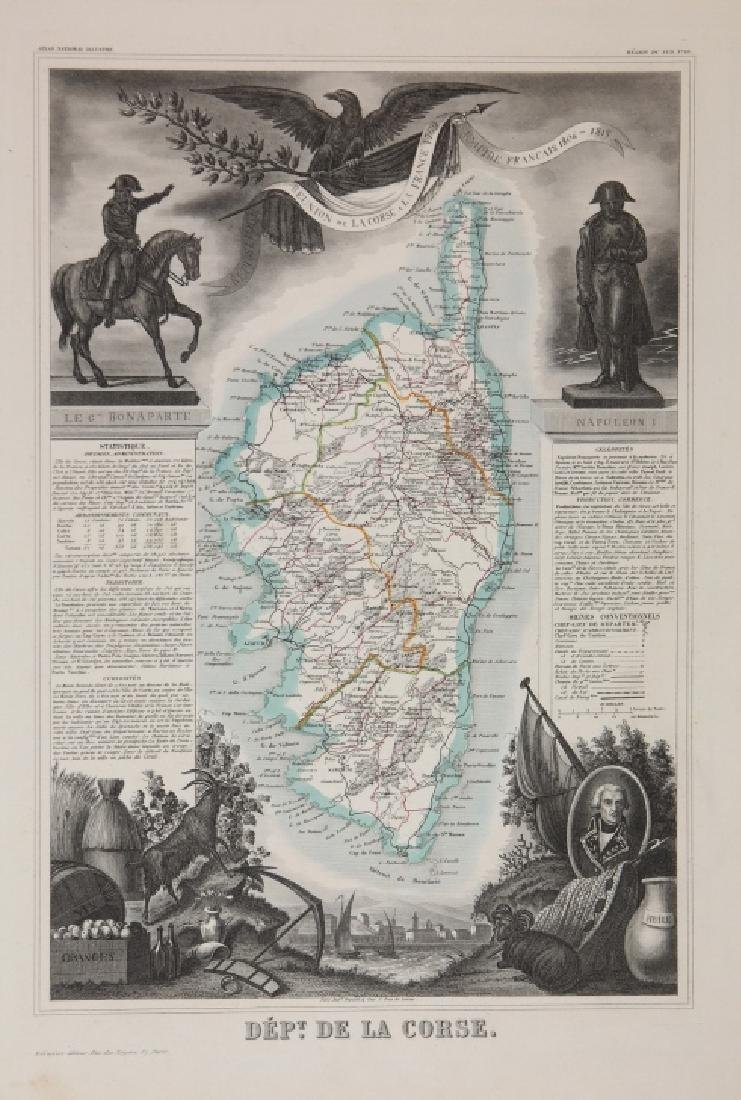 """33 maps from Levasseur's """"Atlas National Illustre"""""""