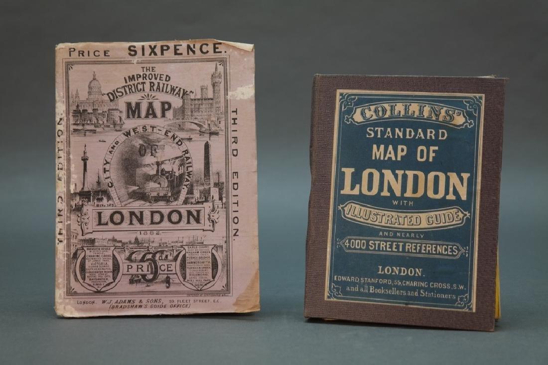 2 London pocket maps: Collins' + Railways.