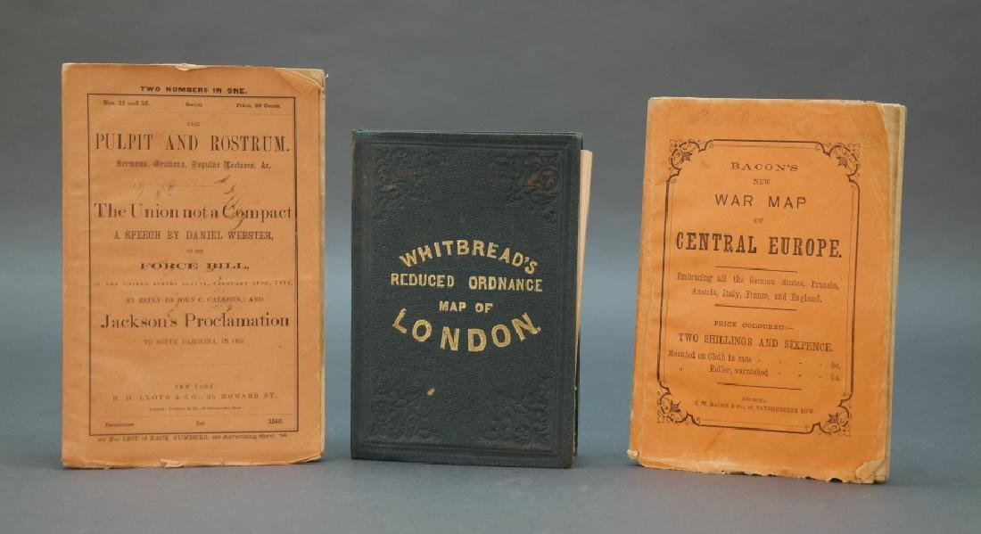 3 Items incl: Reduced Ordnance Map Of London.