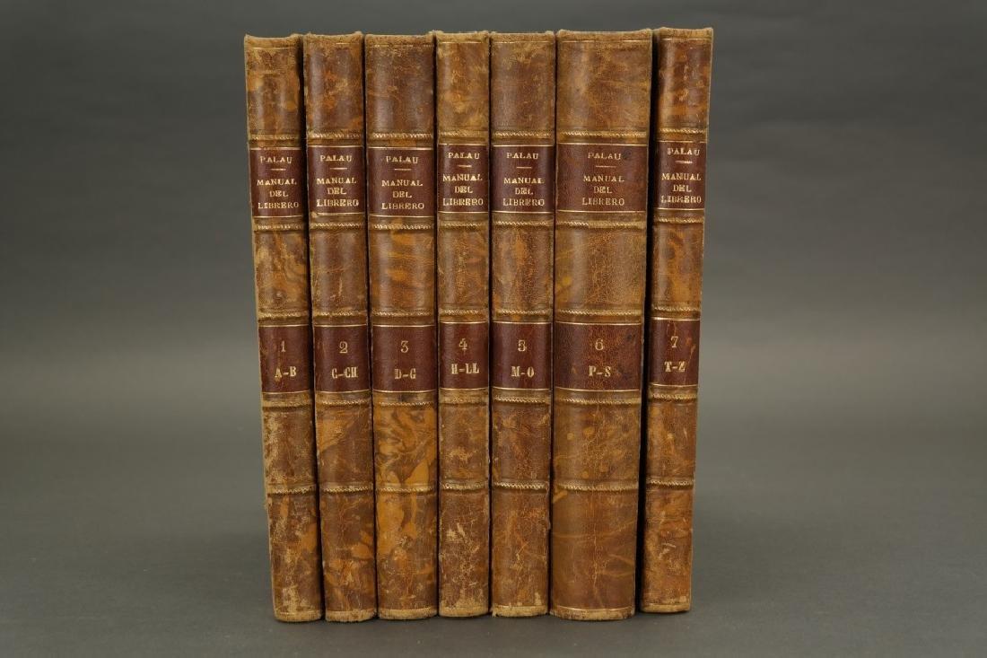 Manual Del Librero Hispano-Americano. 7 Vols.