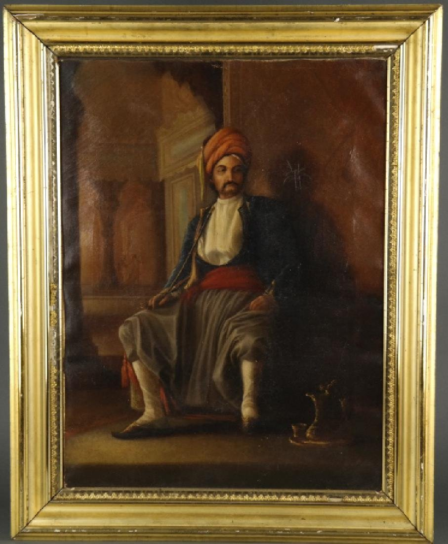 Colonial Era Oil Painting of Indian/Middle-Eastern Man