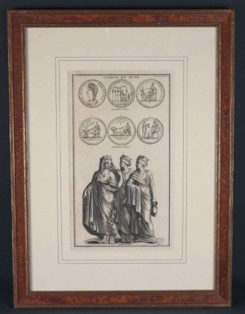 3 engravings: De Montfaucon + Pietro Antonio Pazzi