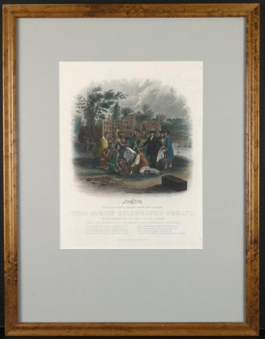 William Penn's Treaty With The Indians (Engraving)