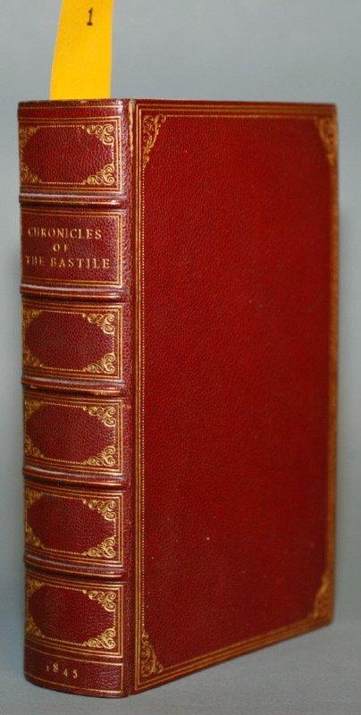 1001: CHRONICLES OF THE BASTILE, 1845. Nice morocco bdg