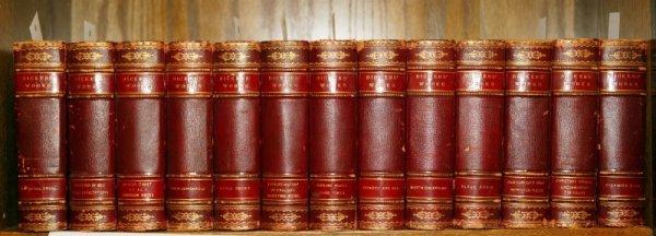 1006: Charles Dickens, WORKS, 30 vols in 15, c1910.