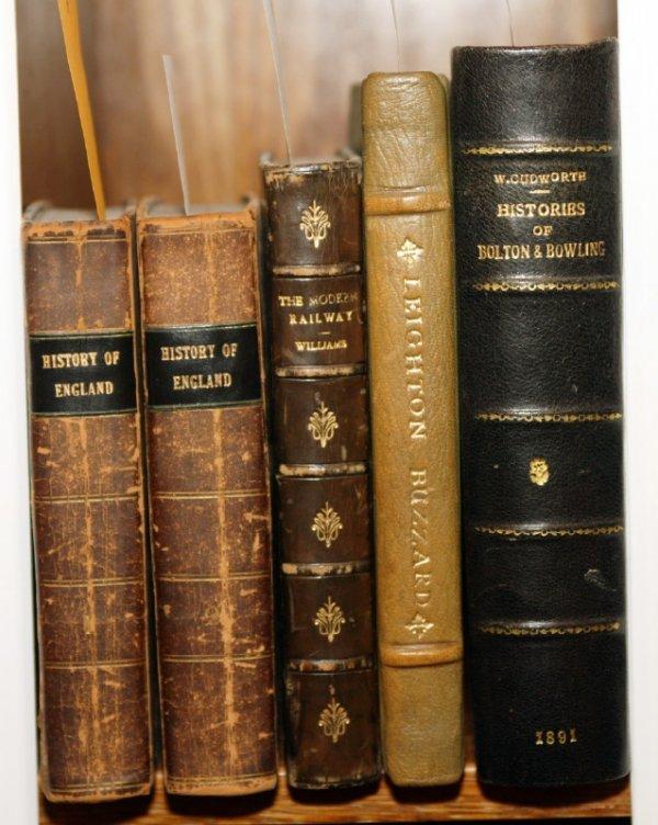 1009: BRITISH HISTORY: 4 books (5 Vols), nice lea bdgs.