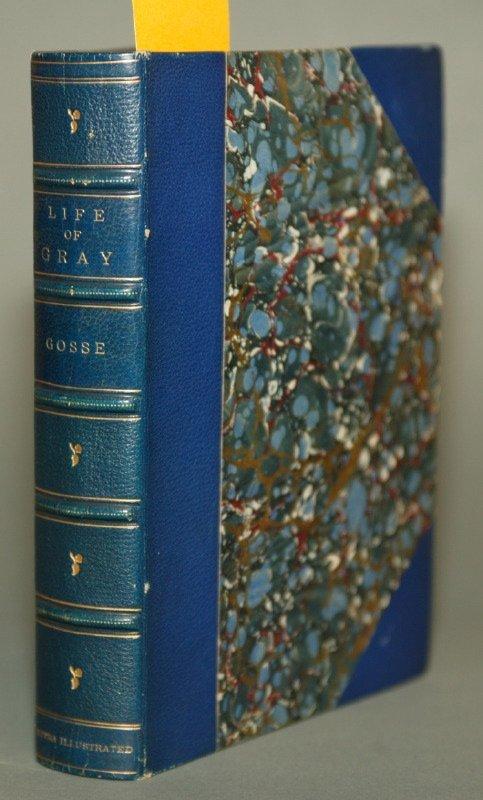 1013: Edmund W. Gosse. Gray, 1882, 1st ed, sgd w/ a poe
