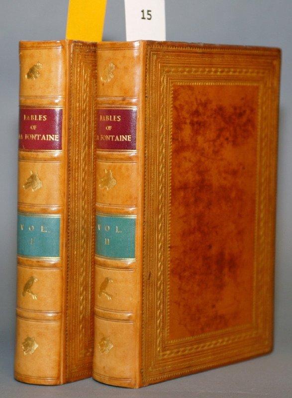 1015: FABLES OF LA FONTAINE, 2 vols, 1841. Nice mor. bd