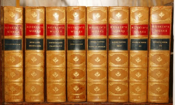 1024: Ruskin, Illustrated Sterling Ed., 8 vols, ca. 190