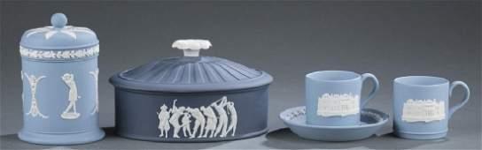 4 Wedgwood jasperware items. c. Late 20th century.