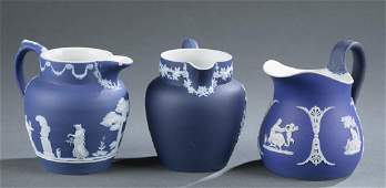 3 Wedgwood jasperware items. 19th century.