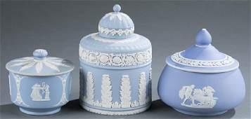 3 Wedgwood jasperware boxes. 19th/20th c.