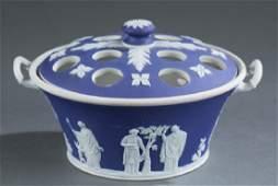 Wedgwood jasperware basket. 1929-1938.