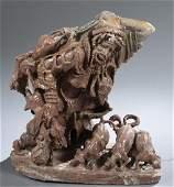 South African figurative stone sculpture.
