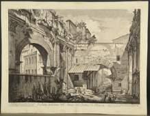 Piranesi. View of the Portico of Octavia. c.1760