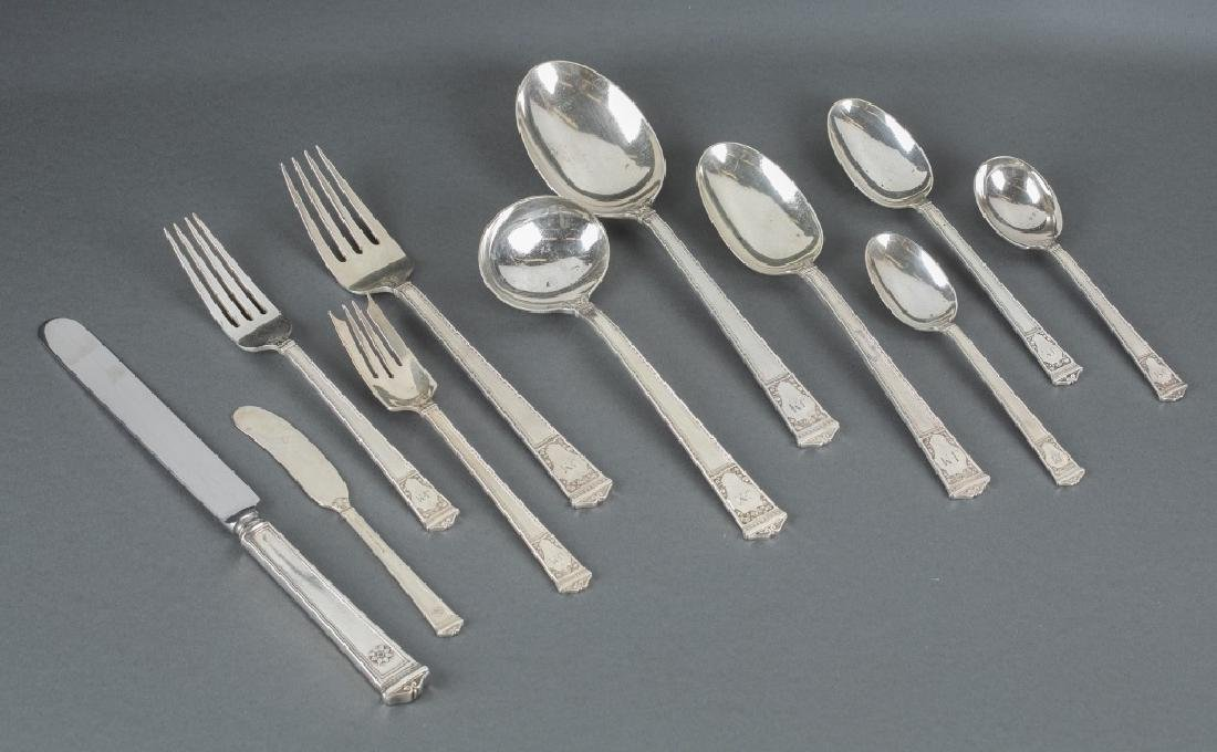 Tiffany & Co sterling flatware service.
