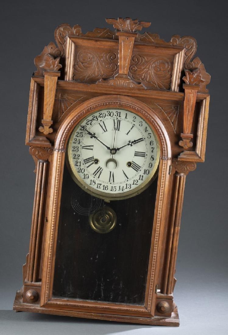 Wooden mantle clock.