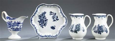 4 English Liverpool porcelain pieces