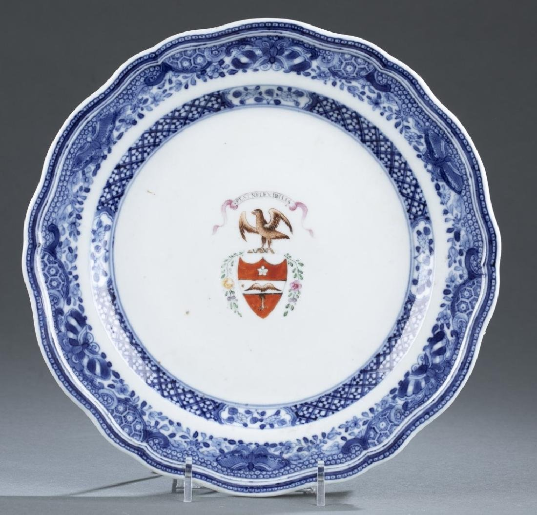 Chinese export armorial plate.