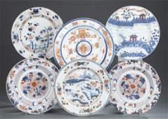 6 Chinese export Imari plates.