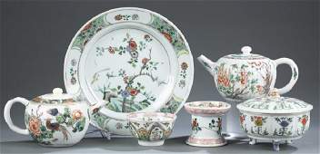 6 Chinese export porcelain pieces