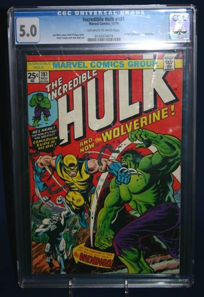2003A: Incredible Hulk # 181 CGC 5.0. first  Wolverine.