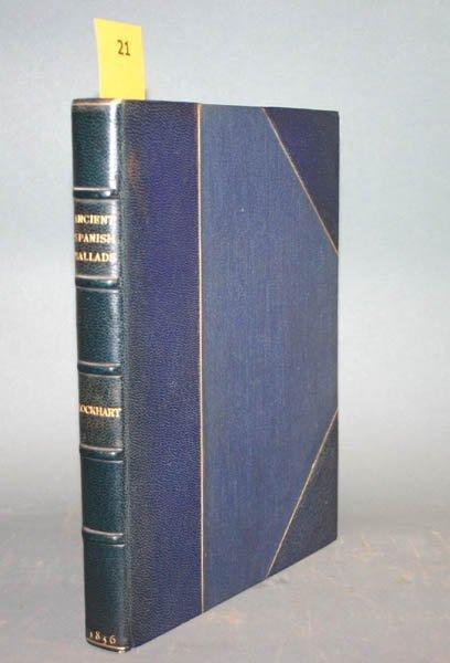 1021: Lockhart, Ancient Spanish Ballads