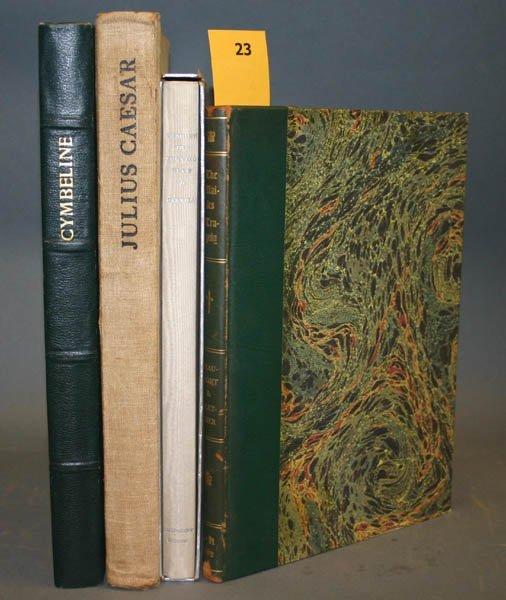1023: 4 press books including Shakespeare Head Press