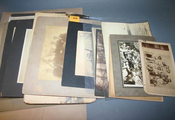1252: 18 original photographs including firemen