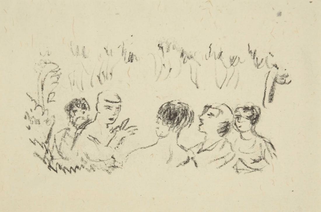 Pierre Bonnard. Pair of transfer lithographs.