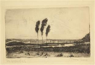Aaron Douglas. Three Trees (Vineyard Haven) c.1951