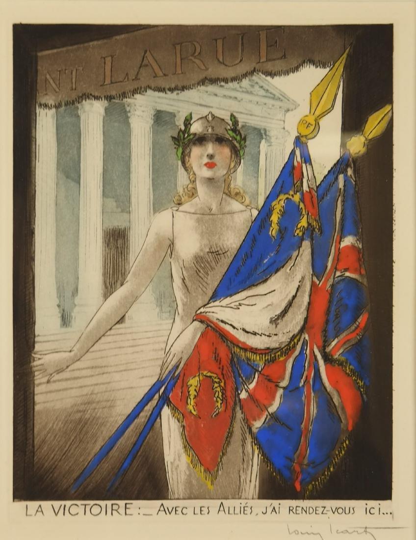 Louis Icart. La Victoire. 1945.