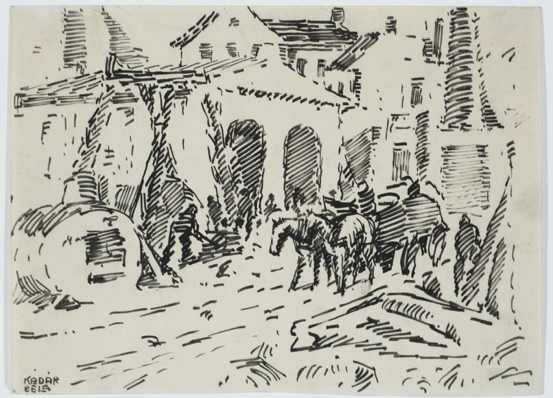 Béla Kádár. Untitled. Ink drawing.