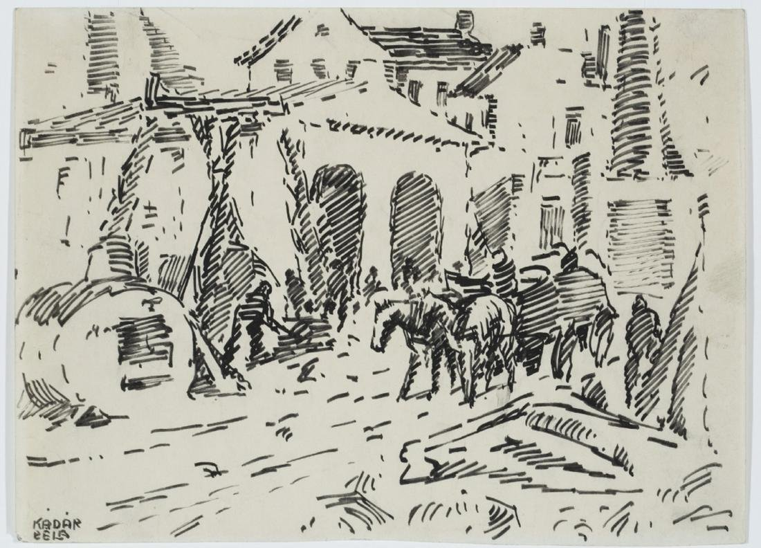 Béla Kádár. Untitled. Ink drawing.