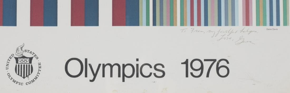 After Gene Davis. 1976 Olympic Poster. Inscribed. - 2