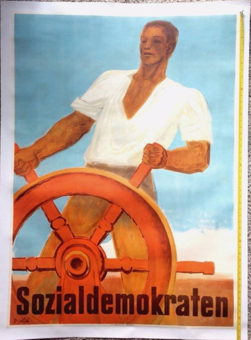 Swiss Propaganda Poster Sozialdemokraten 1947