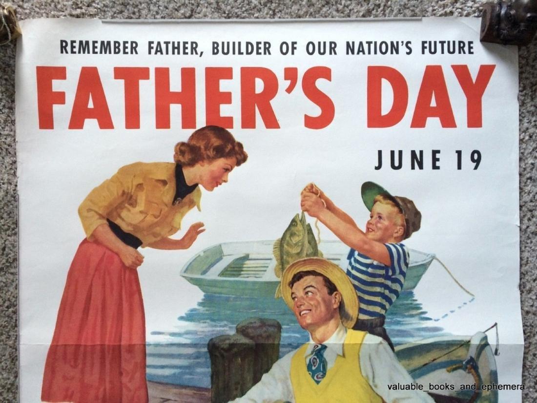 E.F. Ward. Father's Day Poster. 1949. - 2