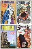 David Klein TWA Poster Group, c.1959/1960.