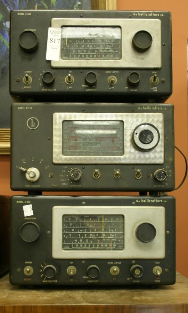 816: Lot of 2 Hallicraftes metal table radios; S-40A an