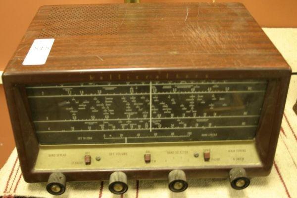 818: Hallicrafters S-83em metal short wave table receiv