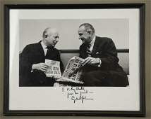 5 Items signed by Lyndon Johnson, other Presidents