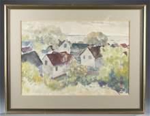 William R Schulgold Province Town watercolor