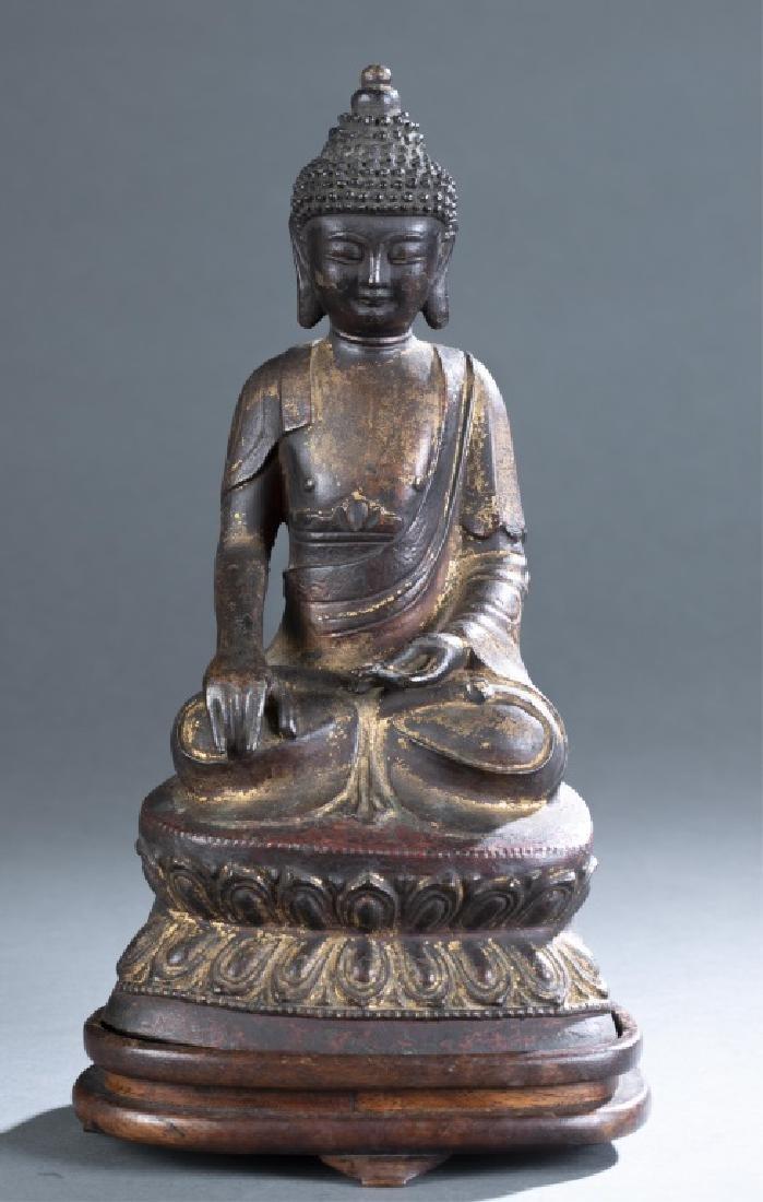 Chinese bronze Buddha statue.