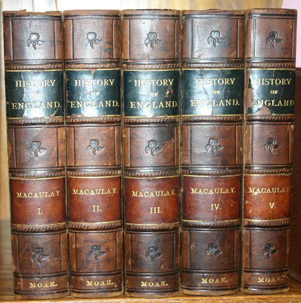 2004: Macaulay, THE HISTORY OF ENGLAND, 5 vols (1861).
