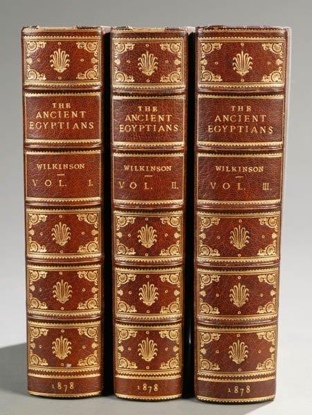 2012: Wilkinson, ...ANCIENT EGYPTIANS, 3 Vols, 1878.