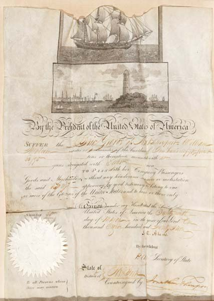 Pres. John Quincy Adams & Henry Clay: signed doc.